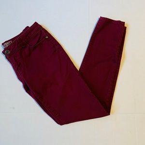 4/$25 {Celebrity Pink Jeans} Skinny Maroon Size 6